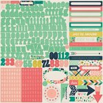 Echo Park - Just Be You Collection - 12 x 12 Cardstock Stickers - Alphabet