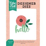 Echo Park - Just Be You Collection - Designer Dies - Floral Hello