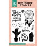 Echo Park - Just Be You Collection - Clear Acrylic Stamps - Be a Dreamer