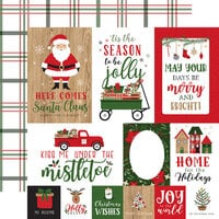 Echo Park - Jingle All The Way Collection - Christmas - 12 x 12 Double Sided Paper - Journaling Cards