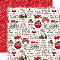 Echo Park - Jingle All The Way Collection - Christmas - 12 x 12 Double Sided Paper - Here Comes Santa Claus