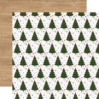 Echo Park - Jingle All The Way Collection - 12 x 12 Double Sided Paper - O Christmas Tree