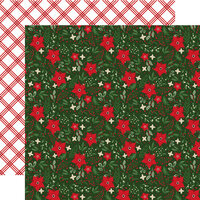 Echo Park - Jingle All The Way Collection - 12 x 12 Double Sided Paper - Christmas - Festive Floral