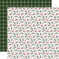 Echo Park - Jingle All The Way Collection - 12 x 12 Double Sided Paper - Christmas - Holly Berry