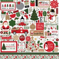 Echo Park - Jingle All The Way Collection - Christmas - 12 x 12 Cardstock Stickers - Elements