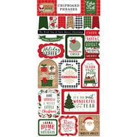 Echo Park - Jingle All The Way Collection - Chipboard Embellishments - Christmas - Phrases