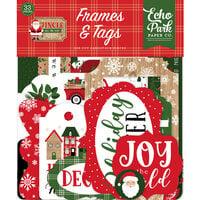 Echo Park - Jingle All The Way Collection - Christmas - Ephemera - Frames and Tags