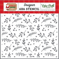 Echo Park - Jingle All The Way Collection - Christmas - 6 x 6 Stencils - Boughs of Holly