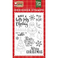 Echo Park - Jingle All The Way Collection - Clear Photopolymer Stamps - Holly Jolly Christmas