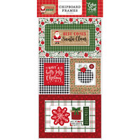 Echo Park - Jingle All The Way Collection - Chipboard Embellishments - Christmas - Frames