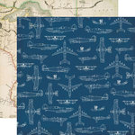 Echo Park - Jack and Jill Collection - Boy - 12 x 12 Double Sided Paper - Airplanes