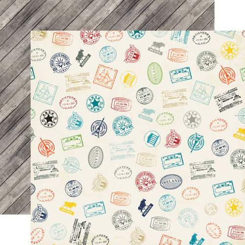Echo Park - Jack and Jill Collection - Boy - 12 x 12 Double Sided Paper - Stamps