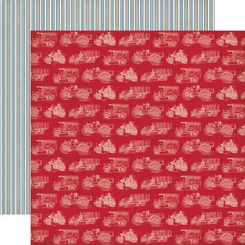 Echo Park - Jack and Jill Collection - Boy - 12 x 12 Double Sided Paper - Trucks