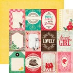 Echo Park - Jack and Jill Collection - Girl - 12 x 12 Double Sided Paper - 3 x 4 Journaling Cards