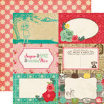 Echo Park - Jack and Jill Collection - Girl - 12 x 12 Double Sided Paper - 4 x 6 Journaling Cards