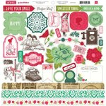 Echo Park - Jack and Jill Collection - Girl - 12 x 12 Cardstock Stickers - Elements