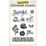 Echo Park - Jack and Jill Collection - Girl - Clear Acrylic Stamps - Beautiful Girl