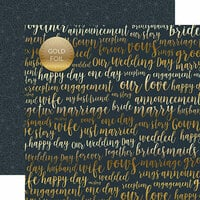 Echo Park - Just Married Collection - 12 x 12 Double Sided Paper with Foil Accents - Our Love