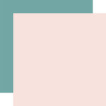 Echo Park - Just Married Collection - 12 x 12 Double Sided Paper - Light Pink