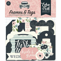 Echo Park - Just Married Collection - Ephemera - Frames and Tags