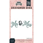 Echo Park - Just Married Collection - Designer Dies - Mr and Mrs Word