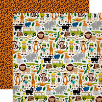 Echo Park - Jungle Safari Collection - 12 x 12 Double Sided Paper - Jungle Adventure