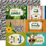 Echo Park - Jungle Safari Collection - 12 x 12 Double Sided Paper - 4 x 6 Journaling Cards