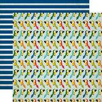 Echo Park - Jungle Safari Collection - 12 x 12 Double Sided Paper - Pretty Parrots