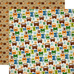 Echo Park - Jungle Safari Collection - 12 x 12 Double Sided Paper - Safari Ride
