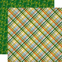 Echo Park - Jungle Safari Collection - 12 x 12 Double Sided Paper - Jungle Plaid