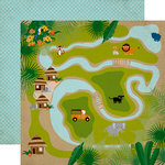 Echo Park - Jungle Safari Collection - 12 x 12 Double Sided Paper - Jungle Map