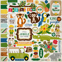 Echo Park - Jungle Safari Collection - 12 x 12 Cardstock Stickers - Elements