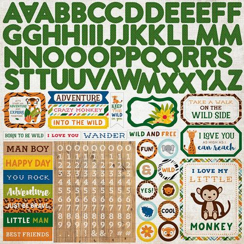 Echo Park - Jungle Safari Collection - 12 x 12 Cardstock Stickers - Alphabet