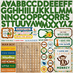 Echo Park - Jungle Safari Collection - 12 x 12 Cardstock Stickers - Alphabet