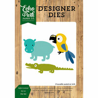 Echo Park - Jungle Safari Collection - Designer Dies - Animals - Set 2