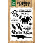 Echo Park - Jungle Safari Collection - Clear Acrylic Stamps - It's a Jungle