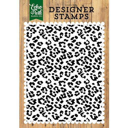 Echo Park - Jungle Safari Collection - Clear Acrylic Stamps - Cheetah A2