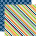 Echo Park - Little Boy Collection - 12 x 12 Double Sided Paper - Cool Stripe