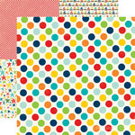 Echo Park - Little Boy Collection - 12 x 12 Double Sided Paper - Awesome Dots