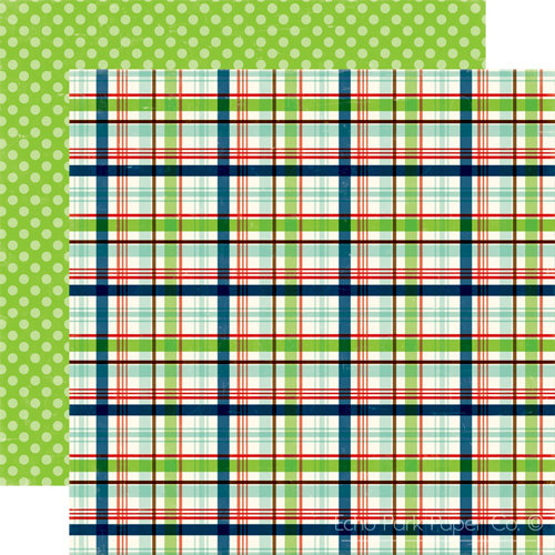 Echo Park - Little Boy Collection - 12 x 12 Double Sided Paper - Rad Plaid