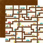 Echo Park - Little Boy Collection - 12 x 12 Double Sided Paper - Road Map