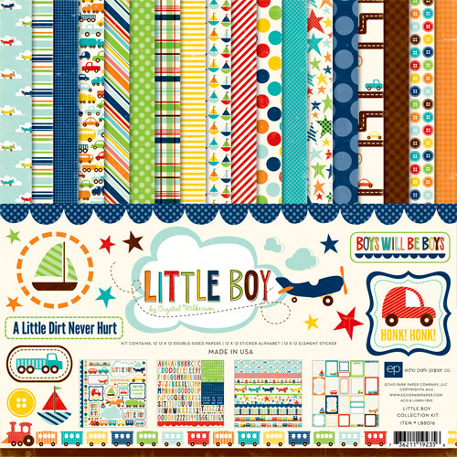 Echo Park - Little Boy Collection - 12 x 12 Collection Kit