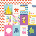 Echo Park - Let's Be Mermaids Collection - 12 x 12 Double Sided Paper - 3 x 4 Journaling Cards