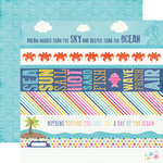 Echo Park - Let's Be Mermaids Collection - 12 x 12 Double Sided Paper - Border Strips