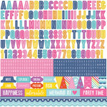 Echo Park - Let's Be Mermaids Collection - 12 x 12 Cardstock Stickers - Alphabet