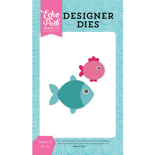 Echo Park - Let's Be Mermaids Collection - Designer Dies - Fish Set 2