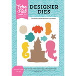 Echo Park - Let's Be Mermaids Collection - Designer Dies - Mermaid Kisses