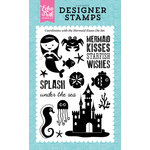Echo Park - Let's Be Mermaids Collection - Clear Acrylic Stamps - Mermaid Kisses