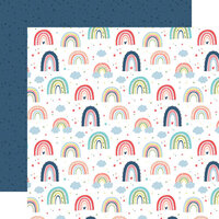 Echo Park - Little Dreamer Girl Collection - 12 x 12 Double Sided Paper - Rainbow Magic