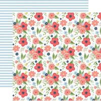 Echo Park - Little Dreamer Girl Collection - 12 x 12 Double Sided Paper - Dreamy Floral